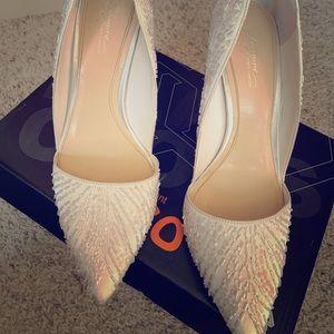 White/ Ivory Beaded Heels